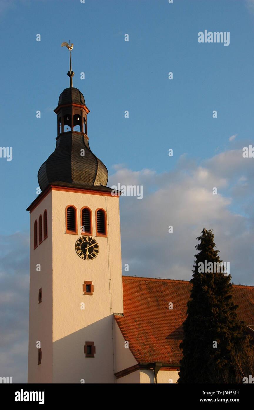 protestant church in neuburg am rhein Stock Photo